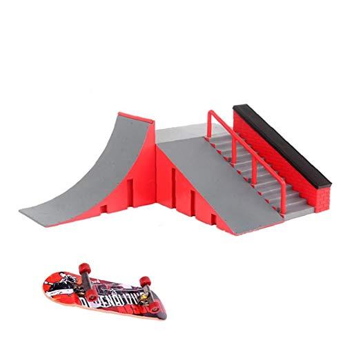 Diapasón de rampa Parque Skatepark Rampas Parque del patín Kit Dedo monopatín...