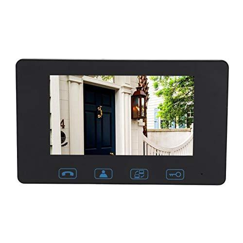HD 7'visión nocturna infrarroja del timbre de la pantalla digital en(British regulations (110-240V))