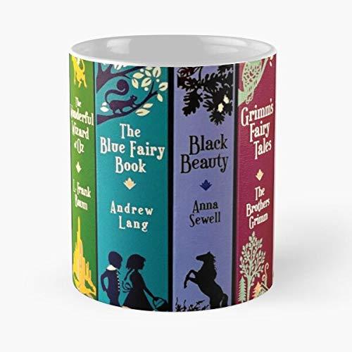Books Kids Literature Kids Peter Bookworm Lit Fairy Tales Pan La mejor taza de café de cerámica blanca de 315 ml
