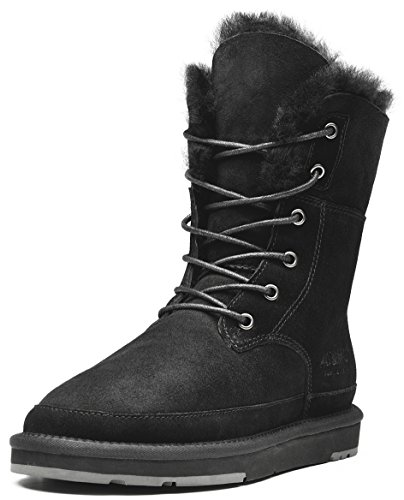 Aumu Women's Classic Lace Up Mid Calf Boots