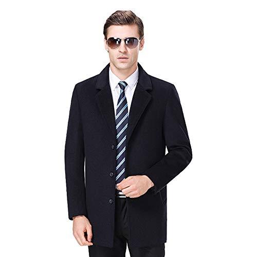 NZHK winterwollen jassen, halflange warme trenchjas, zakelijke pak kraag