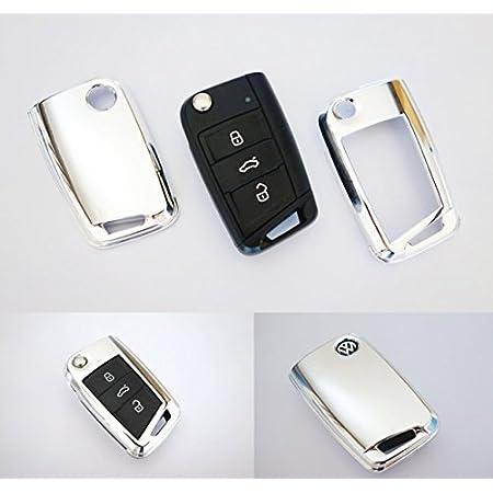 Key Cover Hülle Für Klappschlüssel Fernbedienung Ffb Chrom Auto