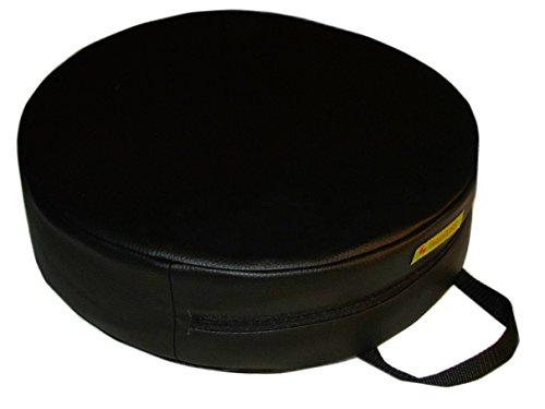 """barfuss Stuhl Sitzerhöhung für Kleinkinder\""""Lederoptik\"""" rund abwaschbar für Kleinkinder (schwarz)"""