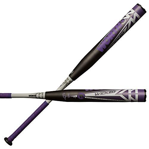 "Worth 2019 Wicked Ryan Harvey XL Signature Model ASA Slowpitch Softball Bat, 13.5"" Barrel, 27 oz"