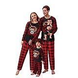 riou Pijamas de Navidad Familia Conjunto Moon Invierno Otoño Mamá Papá Niños Bebé Chándal con Estampado Pijamas Navidenos Amigas