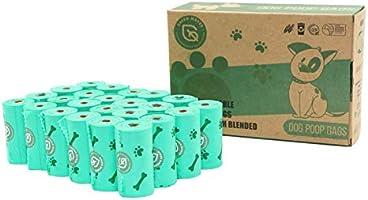 Green Maker Biodegradables Caca Perro Bolsas 360 Excrementos Perros Bolsas 30% más Grueso Que Otros Hecho de Almidón de...