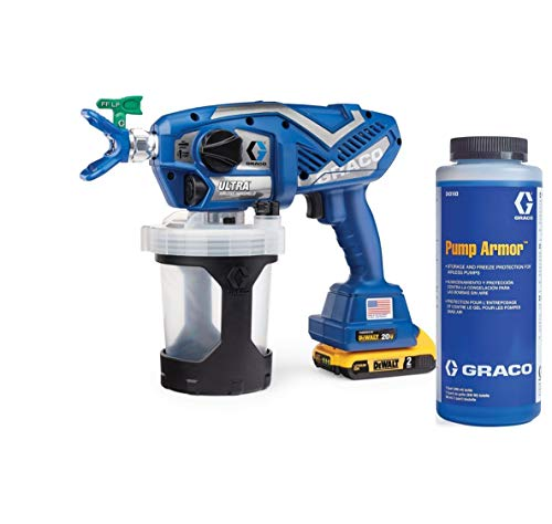 Graco 17M363 Ultra Cordless Airless Handheld Paint Sprayer and Graco 243104 Pump Armor, 1-Quart