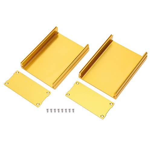 zhoul Split Typ Gehäuse Projektbox Goldenes Gehäuse Gehäuse Aluminiumlegierung Wasserdicht für GPS-Decoder Leiterplatte Projektbox Gehäuse Gehäuse