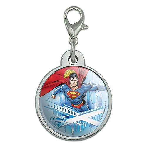 GRAPHICS & MORE Superman Solitude Chrome Plated Metal Pet Dog Cat ID Tag