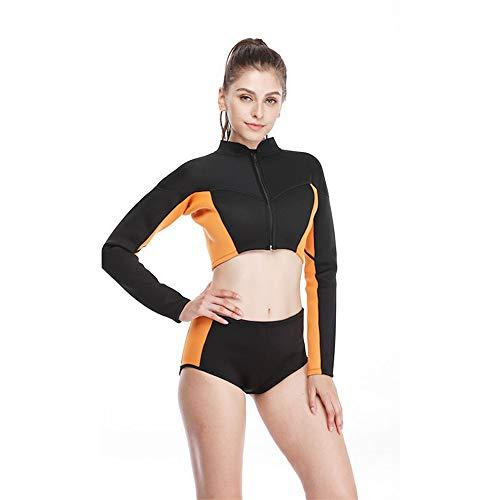 ZUKN Womens Split Neetsuit, 3 mm Neoprene Damen Swimsuit, Split Diving Suit Thermal Surf Suit, ideal für Scuba Surfing Kayaking Schwimmen,XL