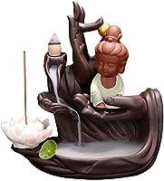 家庭用アロマディフューザー 還流の装飾香炉使用、絶妙な手作りセラミック香ホルダー還流 (Color : C)