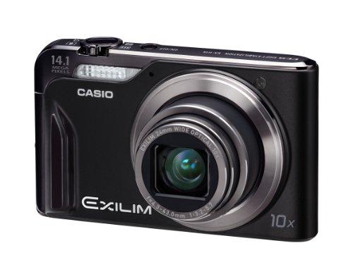 Casio Exilim EX-H15 Digitalkamera (14 Megapixel, 10-fach opt. Zoom, 7,6 cm Display, Akku für bis zu 1.000 Fotos, bildstabilisiert) schwarz
