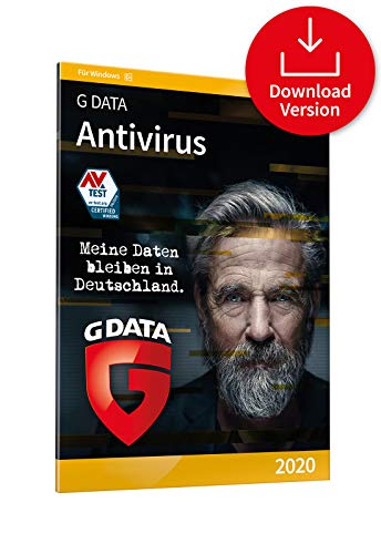 G DATA Antivirus 2020 | 1 PC - 1 Jahr, Download, Aktivierungscode per Email | Windows 10 / 8 / 7 PC | Made in Germany