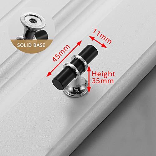 Zinklegierung Schwarzgold Türgriffe Zieht Möbelgriff Mode Aluminium Küchenschrank Griffe Massive Schubladenknöpfe, Silber Einzelloch