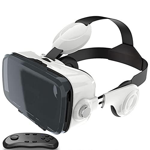 HTYQ Auriculares De Realidad Virtual De Enfoque Independiente 3D VR, Gafas De Teléfono Móvil De Realidad Virtual 3D Adecuadas para Teléfonos Inteligentes Android iOS De 4.7-6.6 Pulgadas