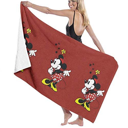 Toalla de playa de Mickey Mouse de 81 x 132 cm para mujeres, niños, niñas, niños, adultos y hombres-Pretty Minnie