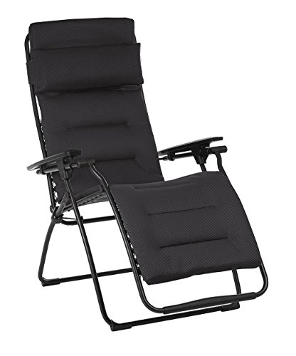 Lafuma LFM3120-6135 Futura Air Comfort Folding Recliner, Acier Black