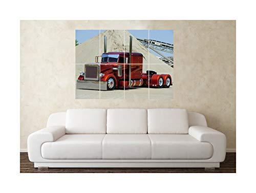 Grote Peterbilt Amerikaanse vrachtwagen vrachtwagen 2 muur poster kunst foto afdrukken Kerstmis verjaardag cadeau