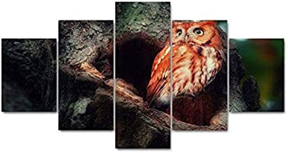 Living room decoration Modern Paintings art 5 panels animals bird canvas prints poster wall Modular picture home