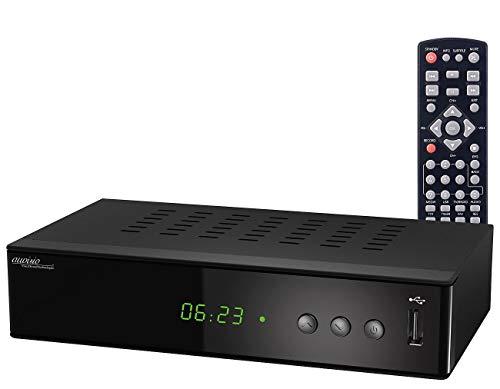 auvisio Kabel Receiver: 3in1-Digital-Receiver für DVB-C, DVB-T2 & Webradio, Mediaplayer, H.265 (DVBC-Receiver)