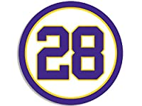 Round #28 Adrian Peterson Vikings Colors Sticker (Decal Minnesota Number 28)