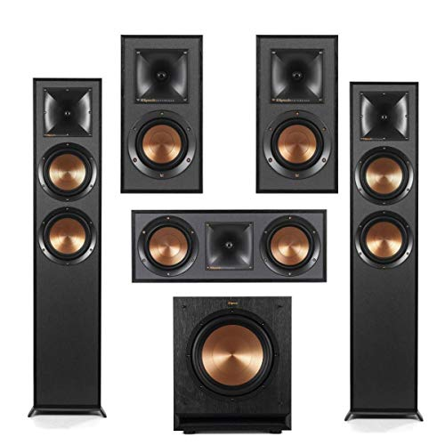Fantastic Deal! Klipsch 2X R-625FA Dolby Atmos Floor Standing Speaker - R-52C Two-Way Center Channel...