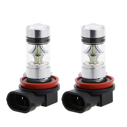 PETSOLA 2 Piezas H11 H8 100W Proyector de Luz de Conducción Antiniebla para Automóvil Bombillas LED Azul 10000K