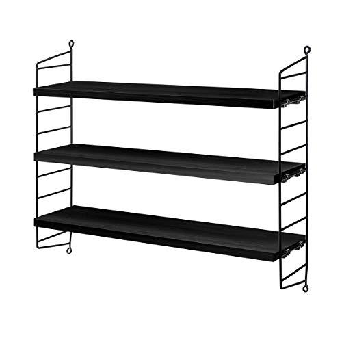 String Pocket Regal String Furniture Esche schwarz gebeizt - Schwarz