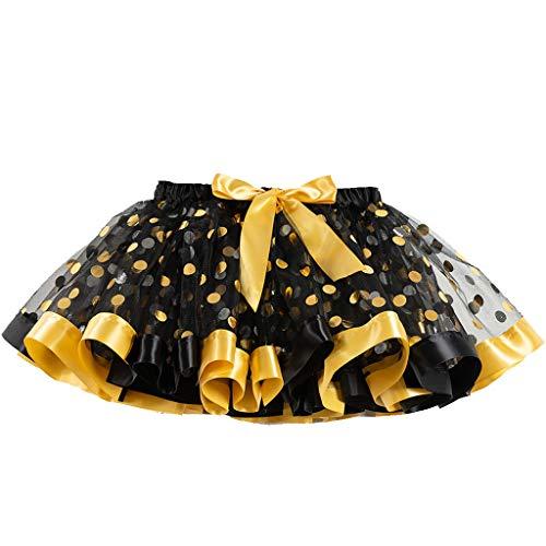 Daygeve Mädchen Tutu Party Dance Ballett Kleinkind Baby Kostüm Dot Print Bow-Knot Miniröcke Cosplay Unterrock Ballett Dress Up für 2-11 Jahre