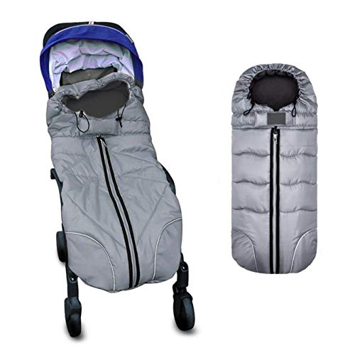 Berocia Waterproof Universal Winter Child Toddler Baby Sleeping Bag Sack Stroller Footmuff Swaddle Wrap Blanket Buggy Bunting Bag for Girl Boy Travel Outdoor Christmas Gifts Accessories