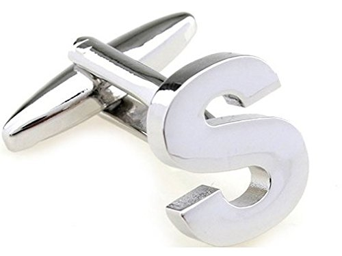 TEROON Cufflinks Lettre 'S' initial [Bouton - NON paire]