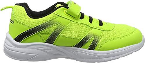 KangaROOS Inko EV Unisex-Erwachsene Sneaker, Gelb (Neon Yellow/Jet Black 7013), 40 EU