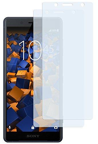 mumbi Schutzfolie kompatibel mit Sony Xperia XZ2 Compact Folie klar, Displayschutzfolie (2X)