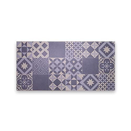 LAMARE Alfombra Vinílica de Color Azul - 200 x 80 cm