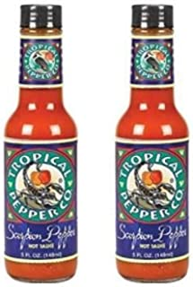 Tropical Pepper Co. Scorpion Pepper Hot Sauce - 5 oz (Pack of 2) …