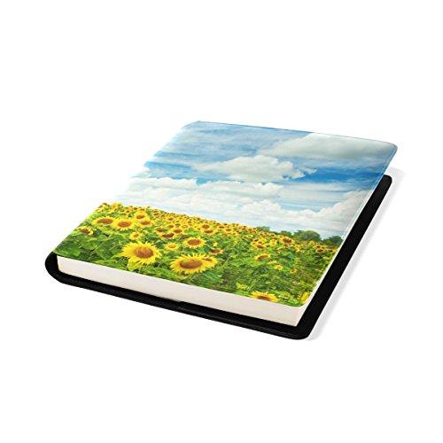 COOSUN Field of Sunflovewrs Book Cover Sox Stretchable Livre, La Plupart des Fits Relié jusqu'à 9 manuels x 11. adhésif Libre, école Cuir PU Livre Protector 9 x 11 Pouces Multicolore