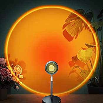 Sunset Lamp Sunset Projection Lamp 180 Degree Rotation Romantic Led Night Light Projector for Photography/Selfie/Home/Living Room/Bedroom Decor