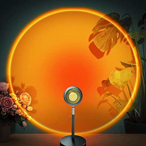Sunset Lamp, Sunset Projection Lamp, 180 Degree Rotation Romantic Led Night Light Projector for...