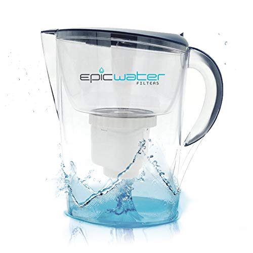 Epic Pure Water Filter Pitcher | 3.5L | 150 Gallon Filter | 100% BPA-Free | Removes Fluoride, Lead,...