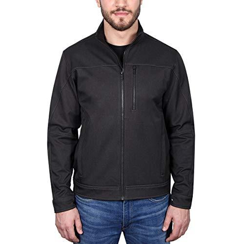 Kirkland Signature Men's Softshell Jacket, Variety (L, Black Embo)