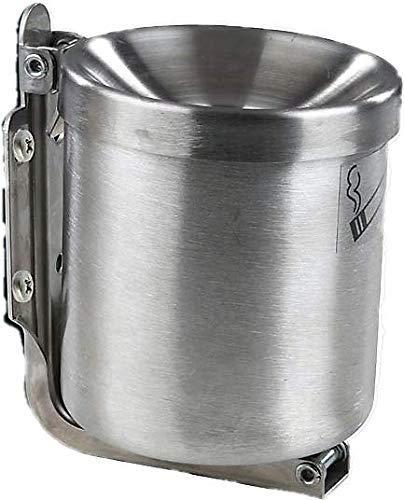 Edelstahl Kipp Wandaschenbecher 0,6 L (90 x100mm). Sicherheitsaschenbecher für Gastronomie und Zuhause Windaschenbecher und Standaschenbecher Made in Germany (90x100mm)