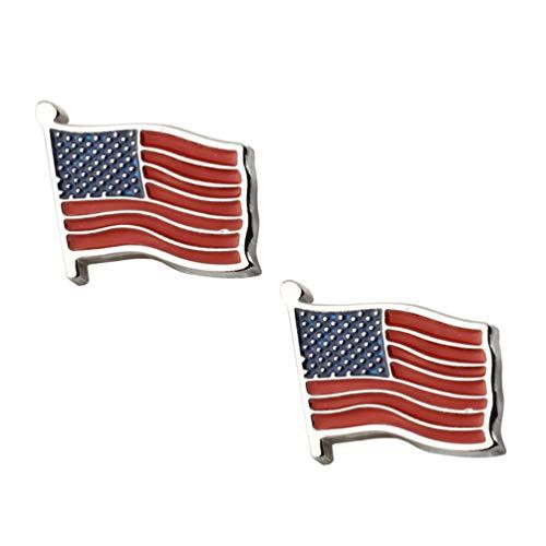 VALICLUD 1 par de Gemelos de La Bandera Americana Ropa Pernos Prisioneros...