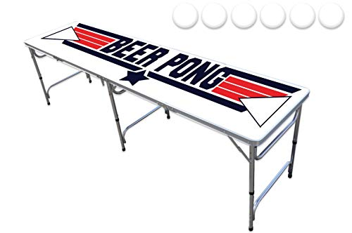 8-Foot Professional Beer Pong Table w/ 6 Pong Balls - Top Pong Edition