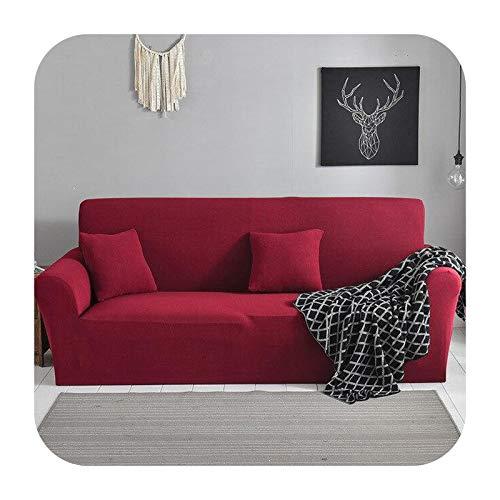 Funda elástica para sofá para sala de estar, antideslizante, elástica, funda de sofá seccional, funda de sillón en forma de L, 1/2/3/4, color de 5-3 asientos, 190-230 cm