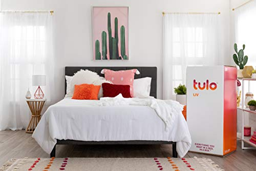 LIV Mattress by tulo, California King Size 9 Inch Bed in a Box, Great for Sleep and Optimal Body Support
