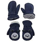 N'Ice Caps - Manoplas de forro polar para niños y bebés (2 pares) - Azul - 4-6 años