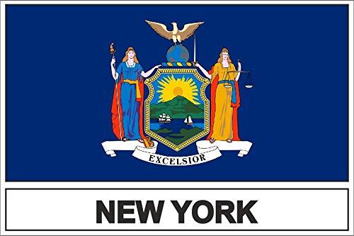 Akachafactory sticker vlag USA New York