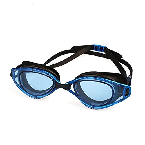 Anti-Niebla UV Protección Ajustable Hombres Mujeres Natación Gafas (Color : CFB, Size : One Size)