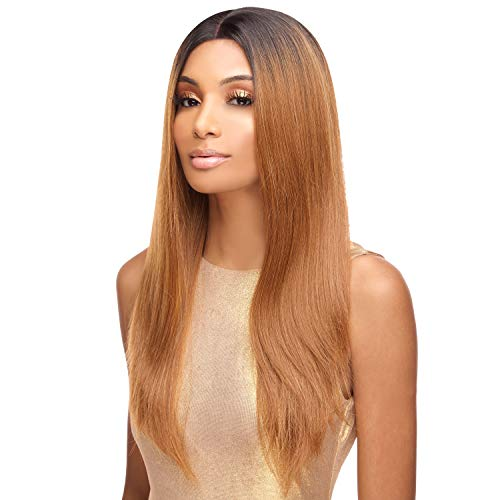 The Stylist Synthetic Lace Front Wig Swiss Lace Silk Top Straight Affair (1B)