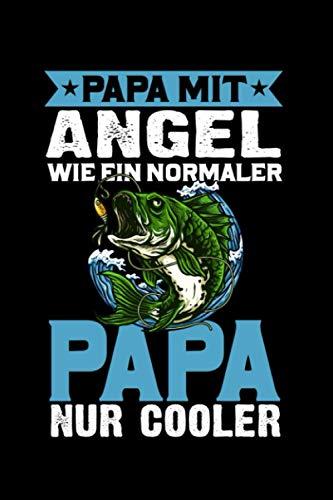 Angler Angeln Vater Papi Papa mit Angel: Taschenbuch / Notizbuch mit Wohnmobil Motiv -in A5 (6x9 Zoll) gepunktet (dot grid)
